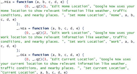 Google Now Code