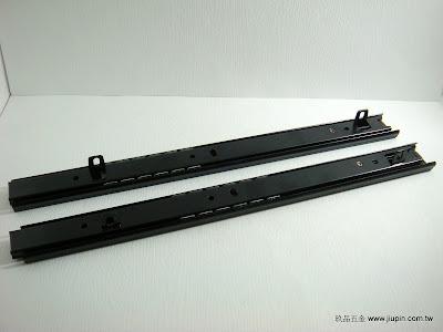裝潢五金 型號:鋼珠二節抽底滑軌(黑色) 規格:30/35/38/45/50cm 玖品五金