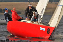 J/22 one-design sailboat- sailing in South Africa
