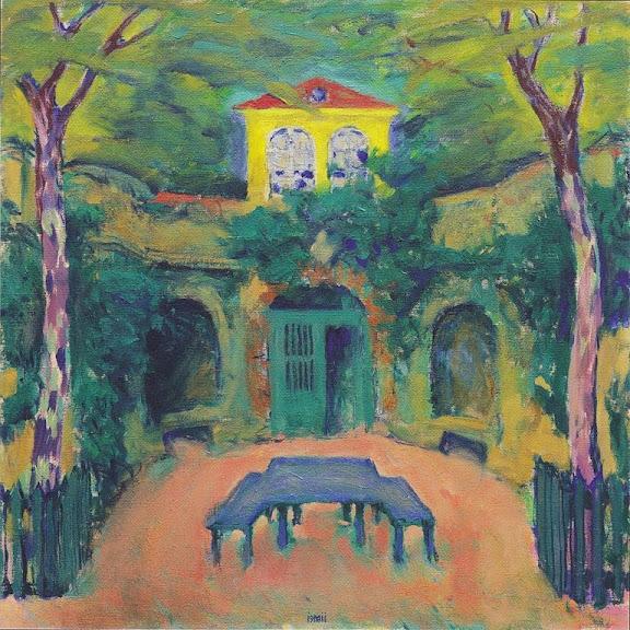 Koloman Moser - Gelbes Haus in Landschaft - 1911