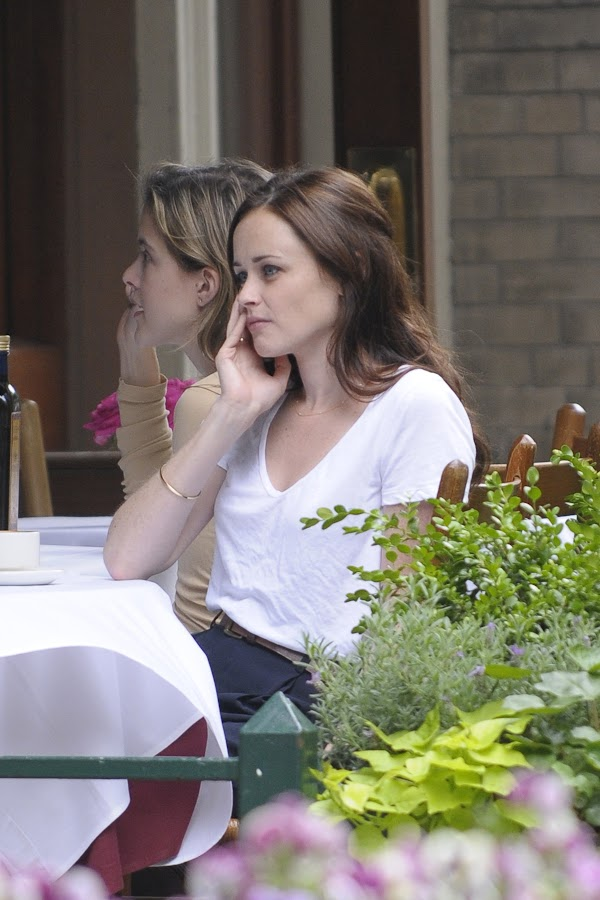 Alexis Bledel's Coffee Outing in NYC:celebrities0