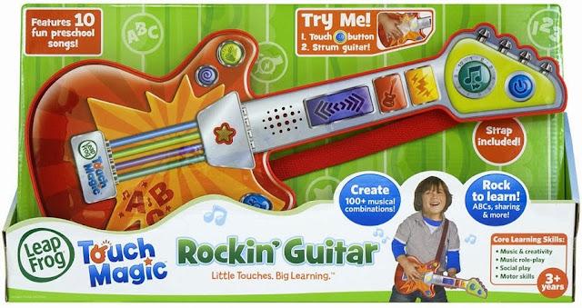 Hộp sản phẩm Đàn guitar cảm ứng màu đỏ dành cho bé trai - LeapFrog