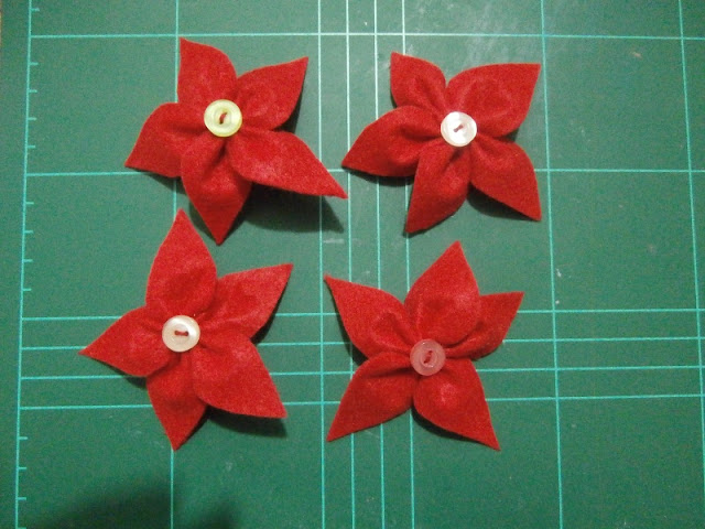 Poinsetias de fieltro