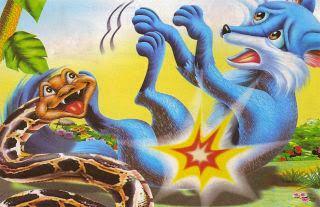 La zorra y la serpiente fabula de animales