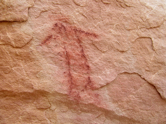 One of a very few pictographs in the area