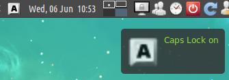 Indicator Keylock in Xubuntu