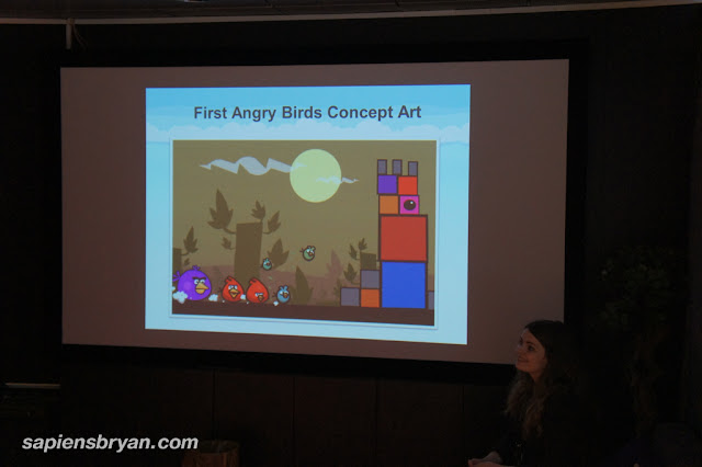 The first concept of Angry Birds game