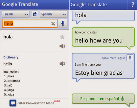Traduce en tu android con Google translate