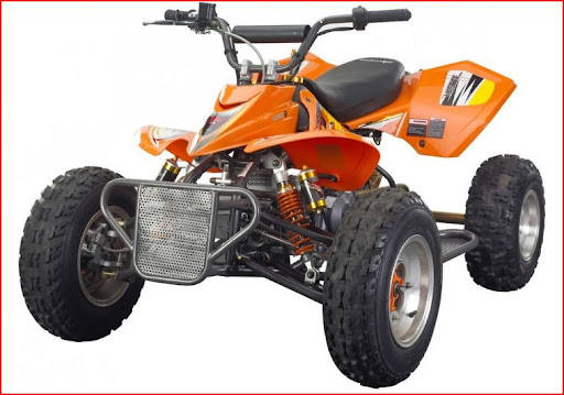 Orange Mastiff 125cc Alloy Race Quad Bike