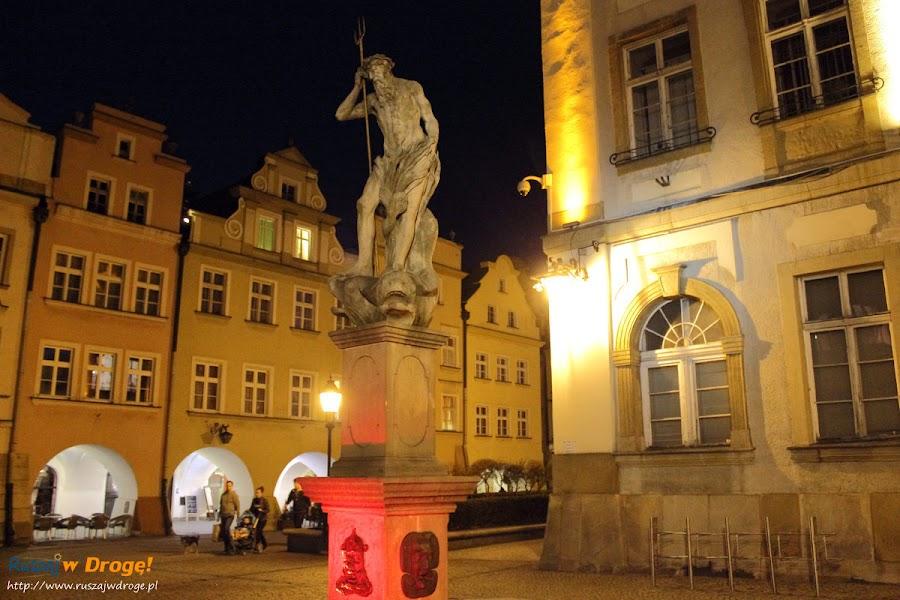 Pomnik Neptuna na rynku w Jeleniej Górze