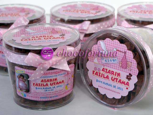 Souvenir Aqiqah Cokelat coklat chococrunch baby born shower one month