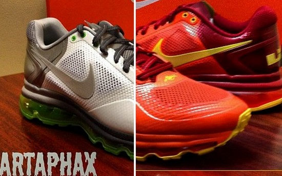 LBJ8217s Nike Air Trainer 13 Max 8211 Miami Heat and Dunkman 8211 PEs