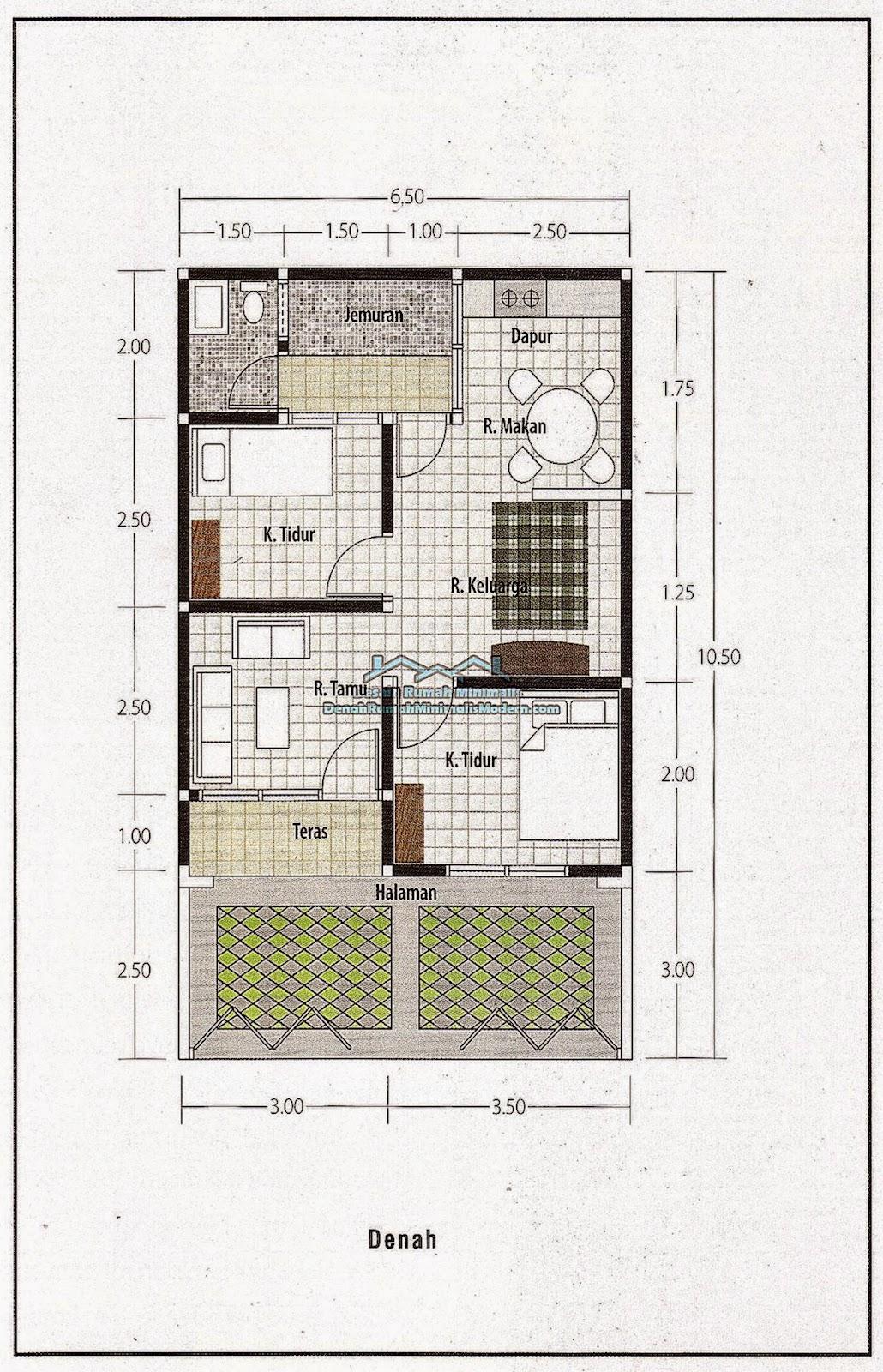Denah Rumah Minimalis Lahan Sempit denah rumah minimalis