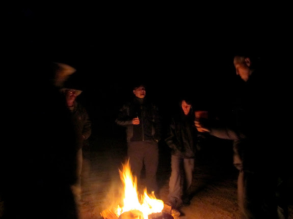 Hangin' 'round the fire
