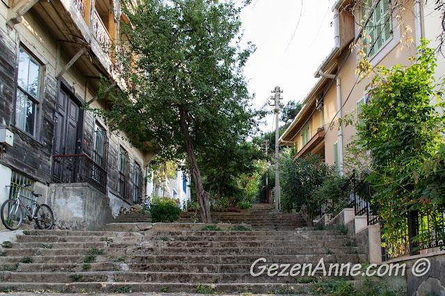 Heybeliada'nın güzel sokaklarında yürürken