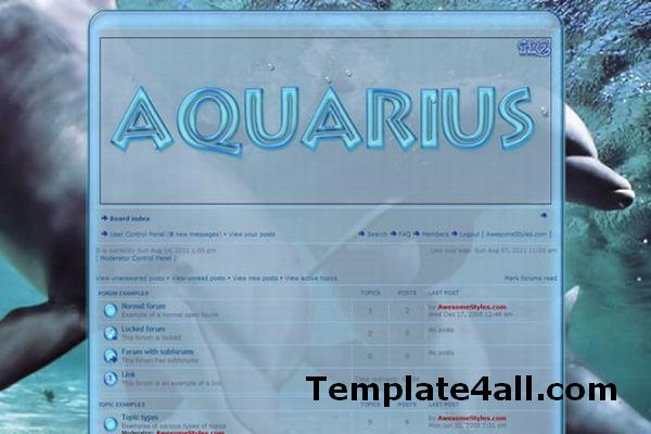 Free Aquarium Sea Fish Phpbb Style Theme