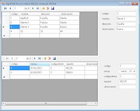 AjpdSoft Acceso nativo MySQL enlazado VB.Net