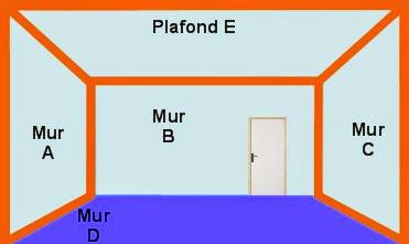 a b c d e surface total en m dune pice - Calcul D Une Surface A Peindre
