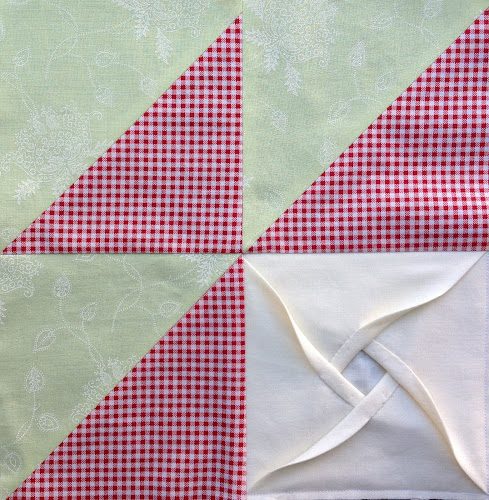Video tutorial: Windmill cathedral window - quilt block