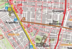 obras el tramo Argüelles-San Bernardo