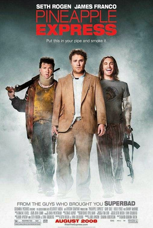 Poster Of Pineapple Express (2008) Full Movie Hindi Dubbed Free Download Watch Online At alldownloads4u.com