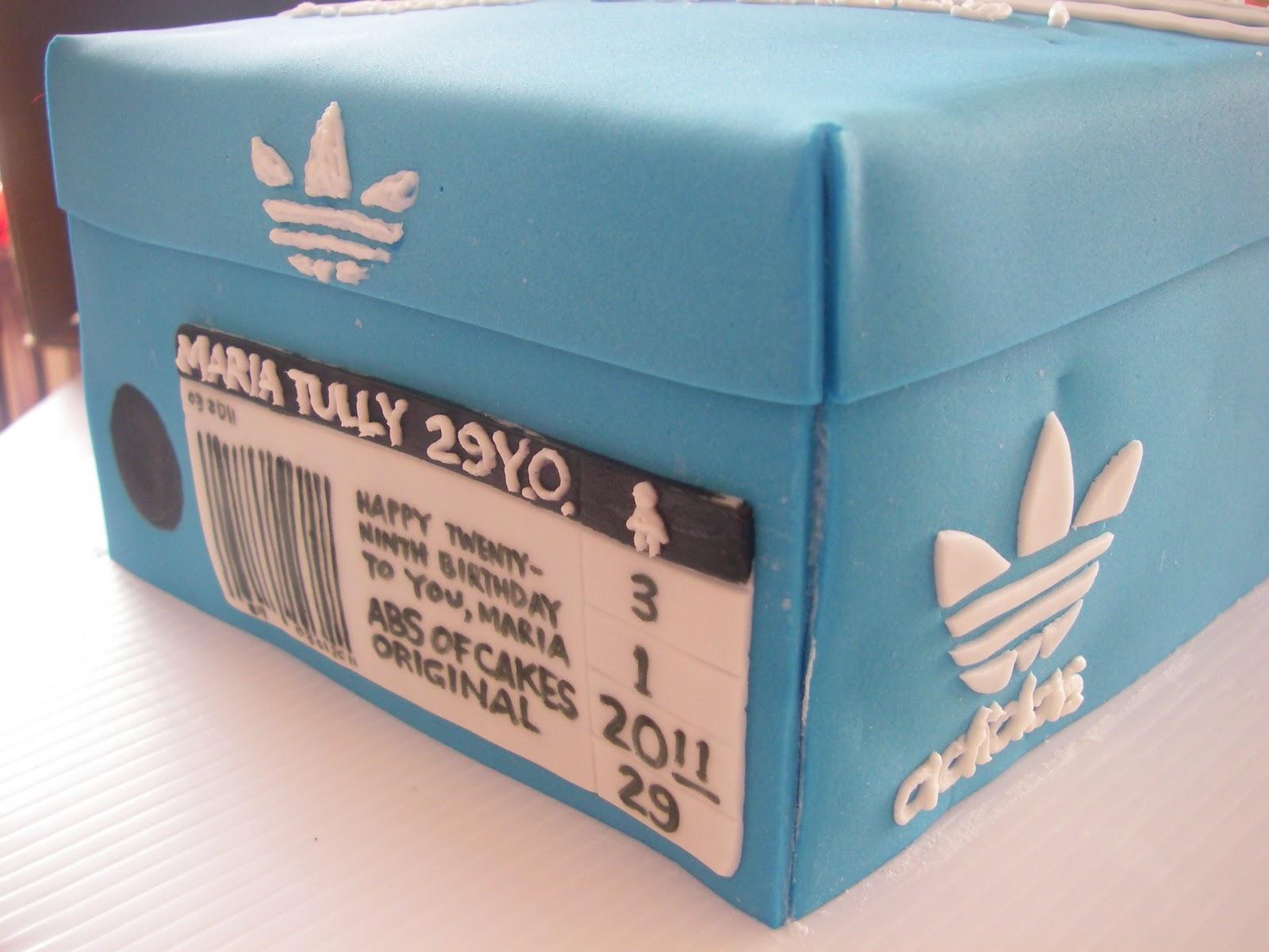 Abs of Cakes: Adidas Shoebox Cake