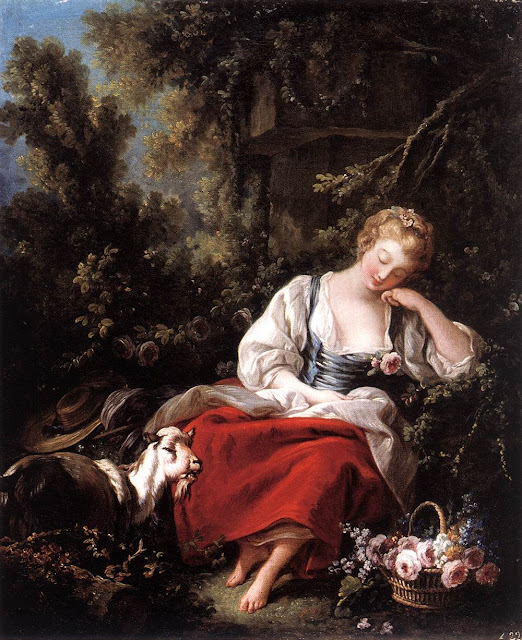 Francois Boucher - Dreaming Shepherdess