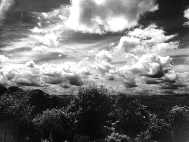 cloudy day black and white