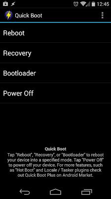 reinicio rápido en android