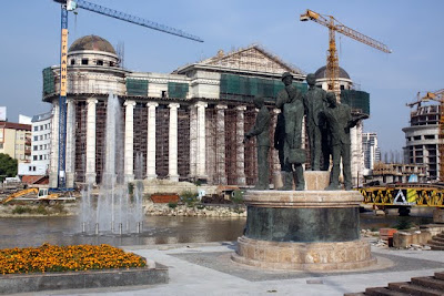 New construction in Skopje Macedonia