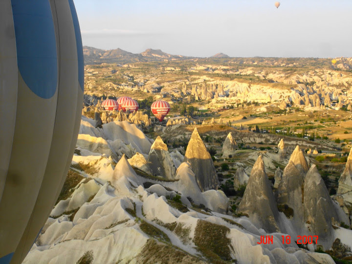 Balloons, Cappadocia.  2015 Eat Smart in Turkey Culinary Tour