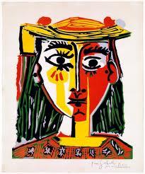 Pablo Picasso.- Mujer con sombrero