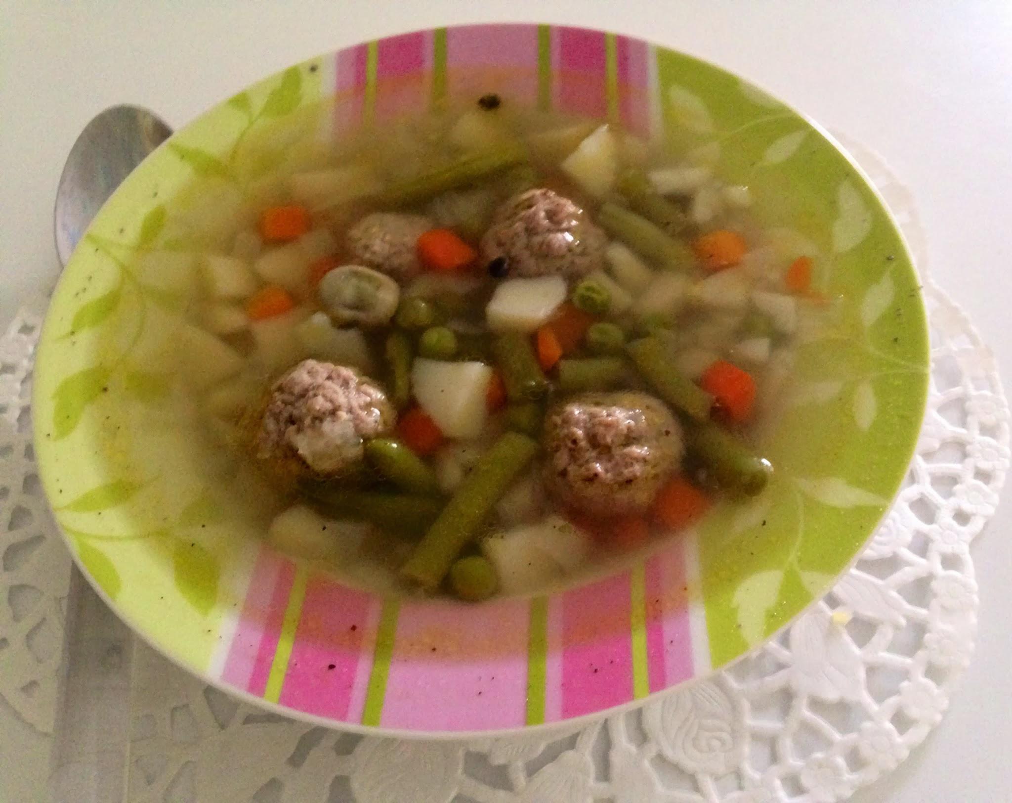 Суп с фрикадельками замороженными