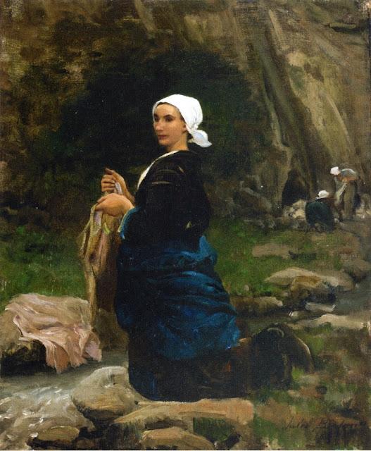 Jules Breton - A Breton Laundress