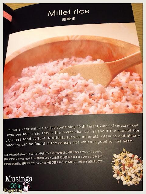 Millet Rice Menu