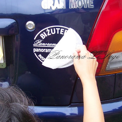 Naklejka Panorama LeSage Naklejka reklamowa na samochód auto Amigraf2 brelok daihatsu Marzena Ostrowska ćma