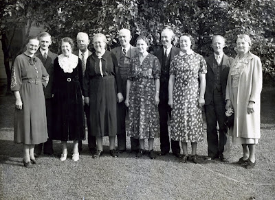Picture taken at funeral of Leah Royer Fall's funeral in 1937Back Row Left to RightHerb Fall, Edgar Fall, Will Fall, Burleigh Fall, John FallFront Row Left to RightEffie Fall Brumbaugh, Minnie Fall Tompson, Margaret Fall Smith, Nora Fall Kannel, Verna Fall Strebie, Kate Fall Schumacher