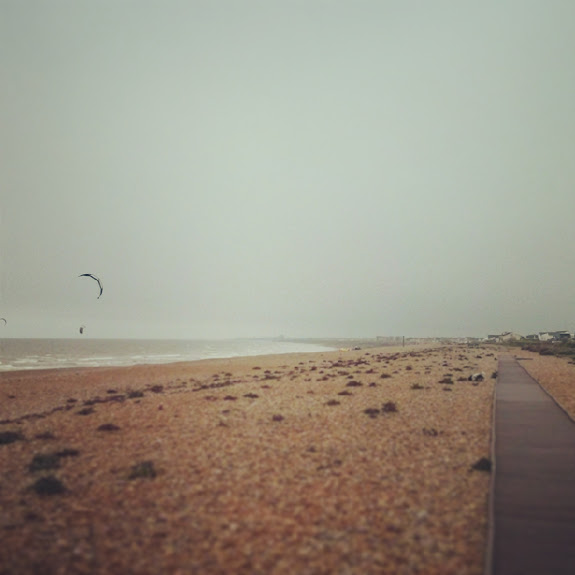 hazy shoreham beach