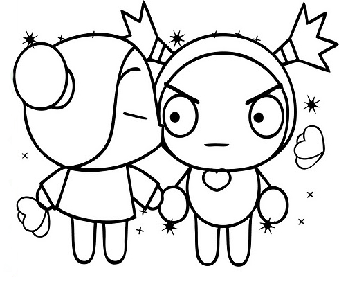 Pucca and garu coloring pages