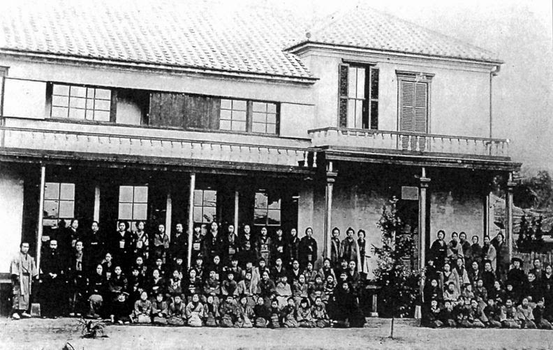 事件当時の東洋英和女学校校舎(創立地)