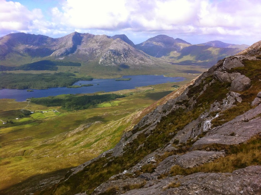 View from Maamturks Connemara Ireland