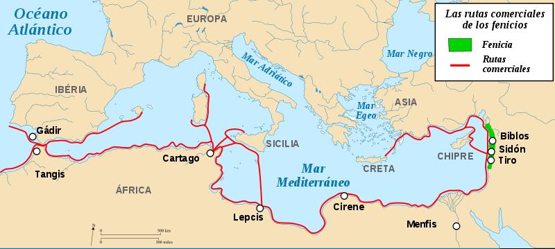 La zona occidental del imperio persa (Fenicia, Palestina, Egipto)