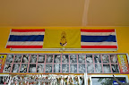 Souvenirs of happy customers under Thai flags