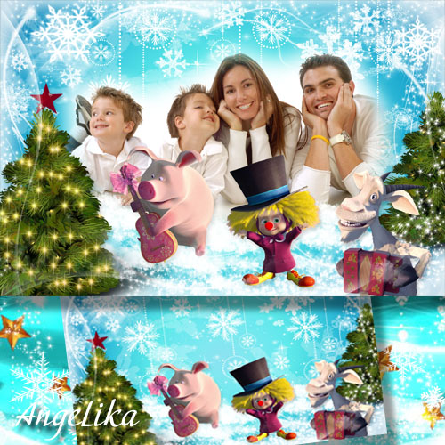 Kids Photoframe - Winter Entertainments