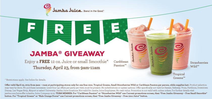 FREE Jamba Juice!