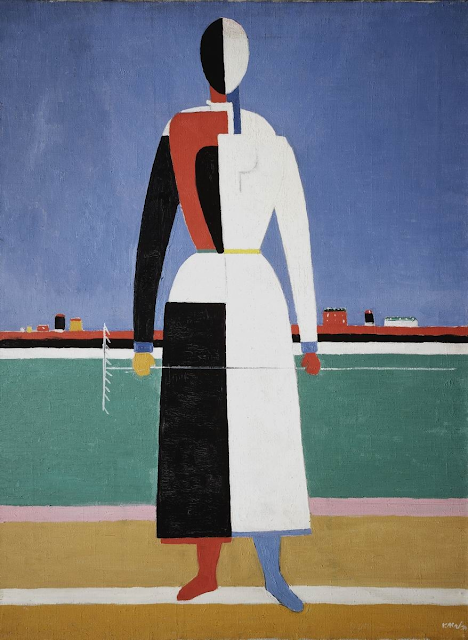 Kazimir Malevich - Woman with a rake