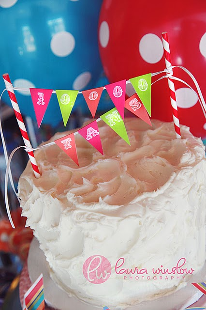 Cake Bunting Template Happy Birthday