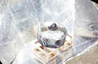 Preparación de alimentos con estufas solares.