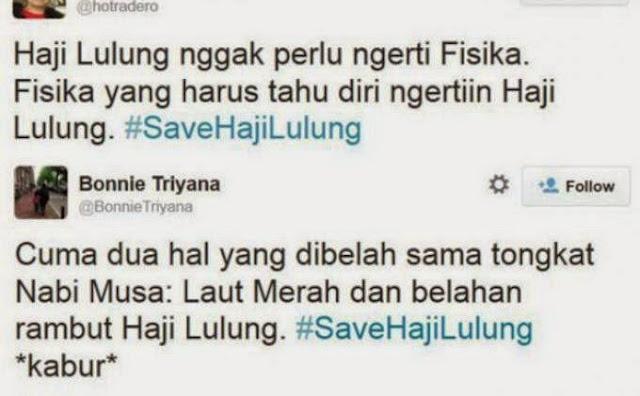 Twitter kocak Haji Lulung nggak perlu ngerti Fisika dan Cuma Dua Hal Yang Dibelah Tongkat Musa