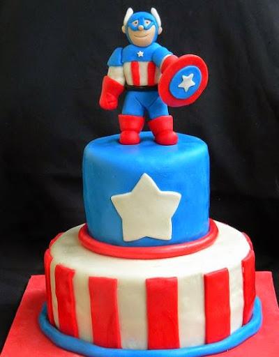 Captain America Birthday Cakes